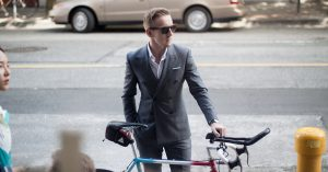 Suit and a road bike