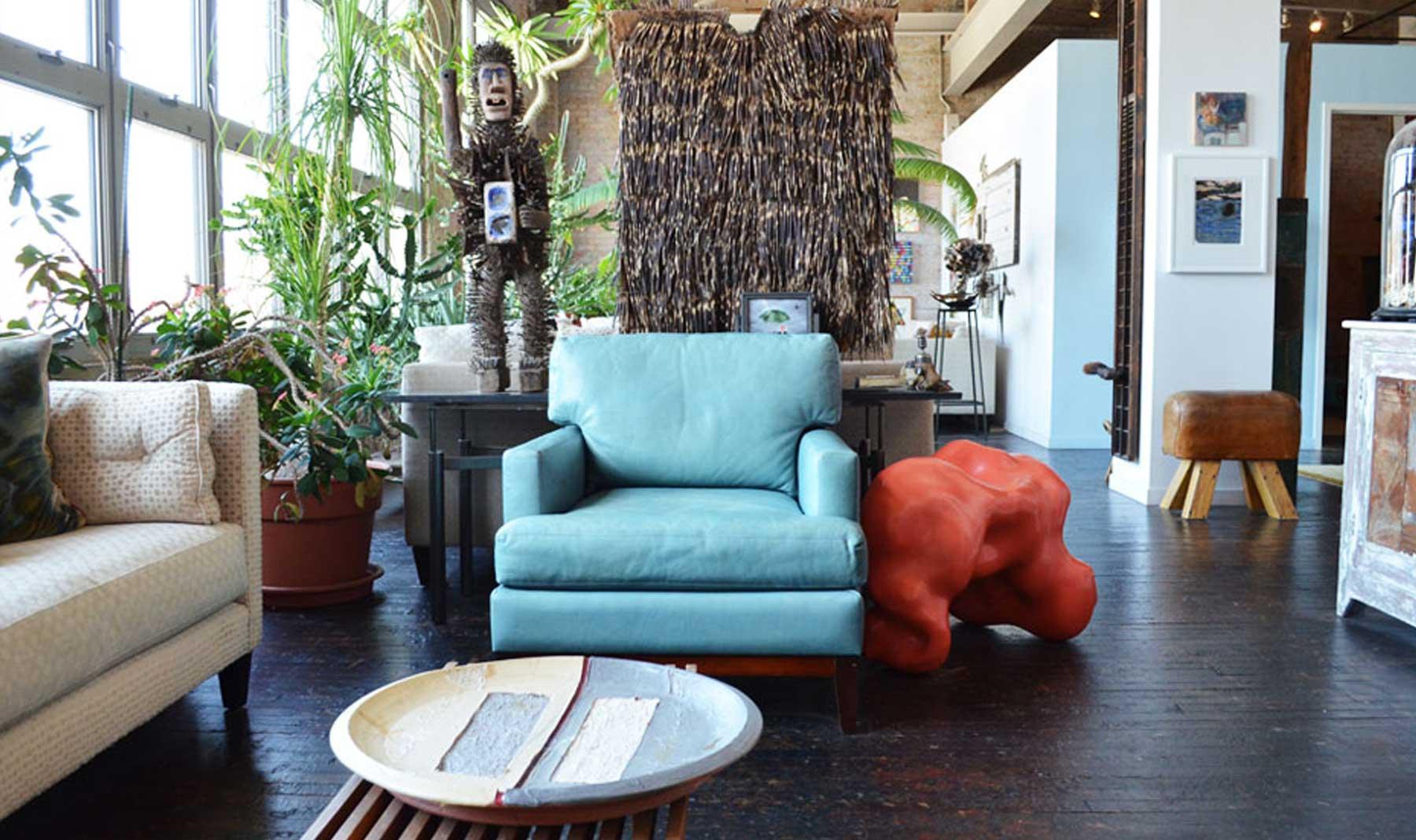 Artist Nick Cave's sofa