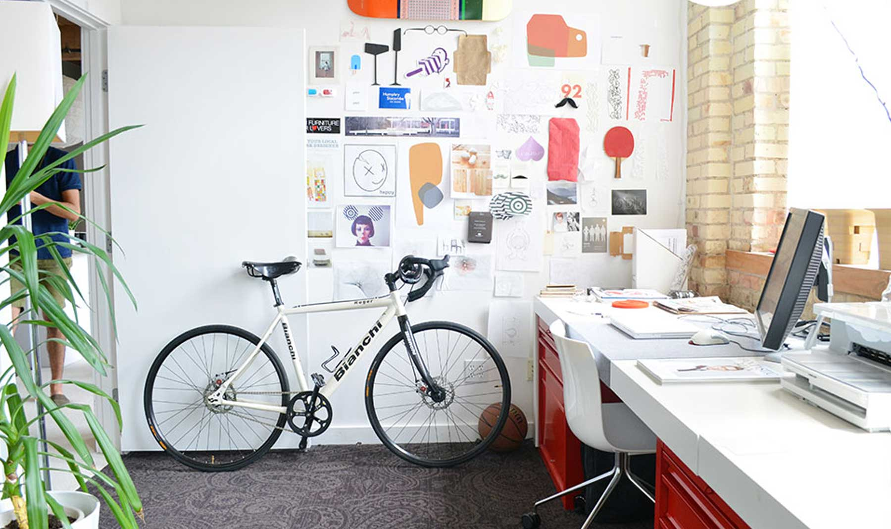 Designer Nicolai Czumaj-Bront's office
