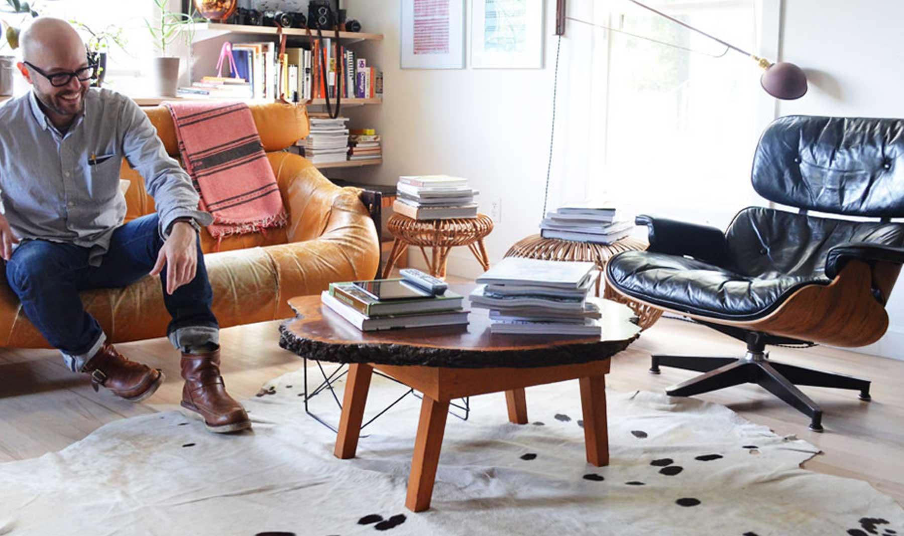 Designer Matt Pierce's living room