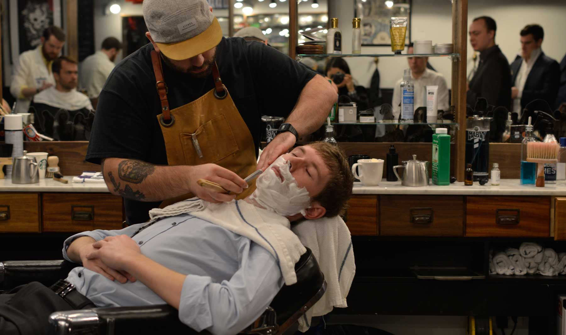Ross getting a close shave @ Barber & Co., Vancouver, BC
