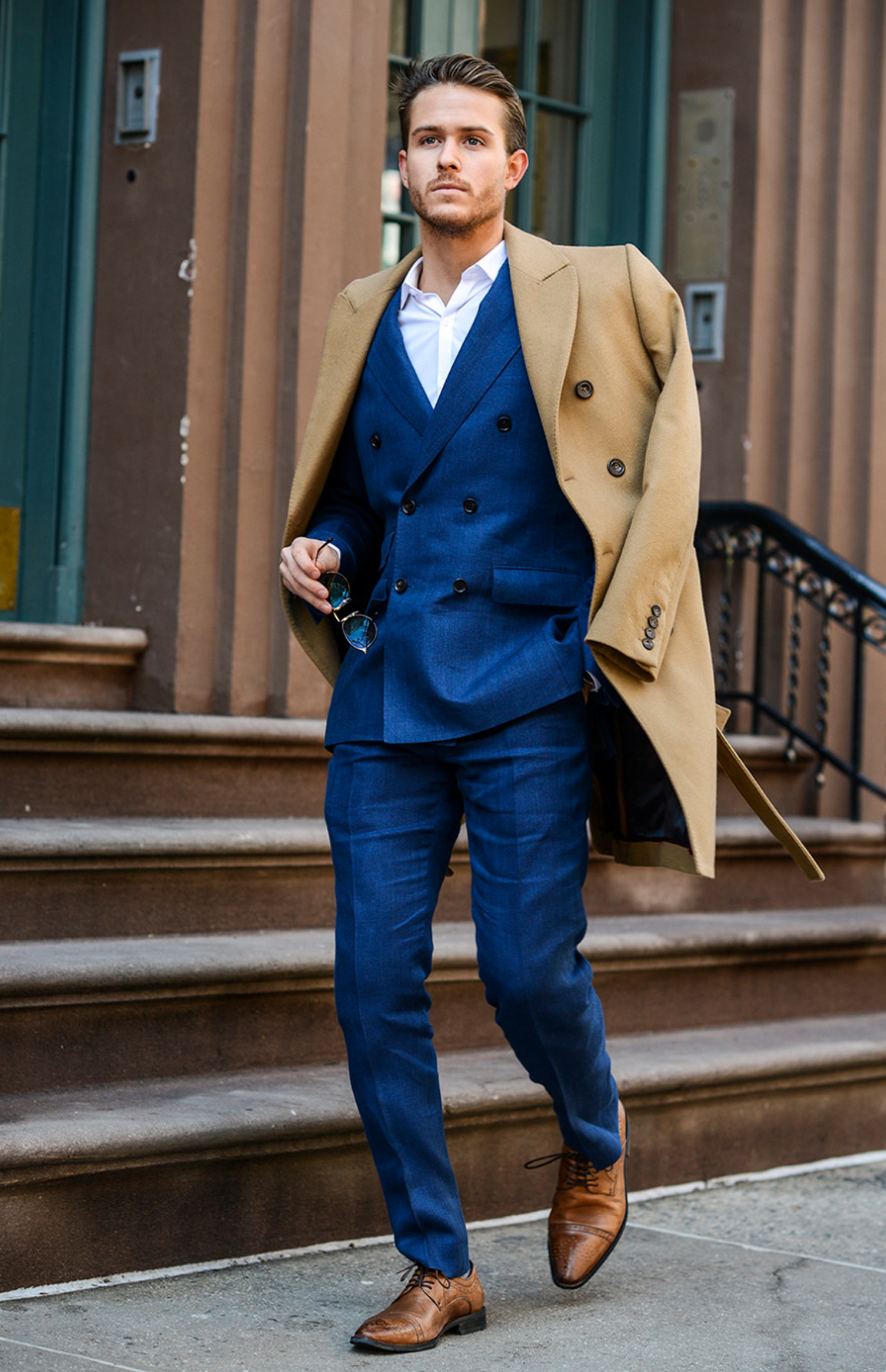 Menswear Influencer Adam Gallagher in an Indochino custom suit.