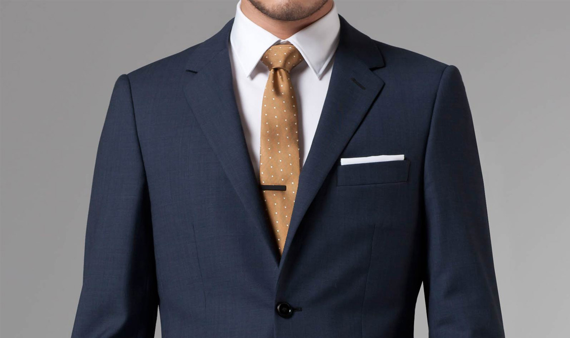 Essential Blue Sharkskin Suit by Indochino