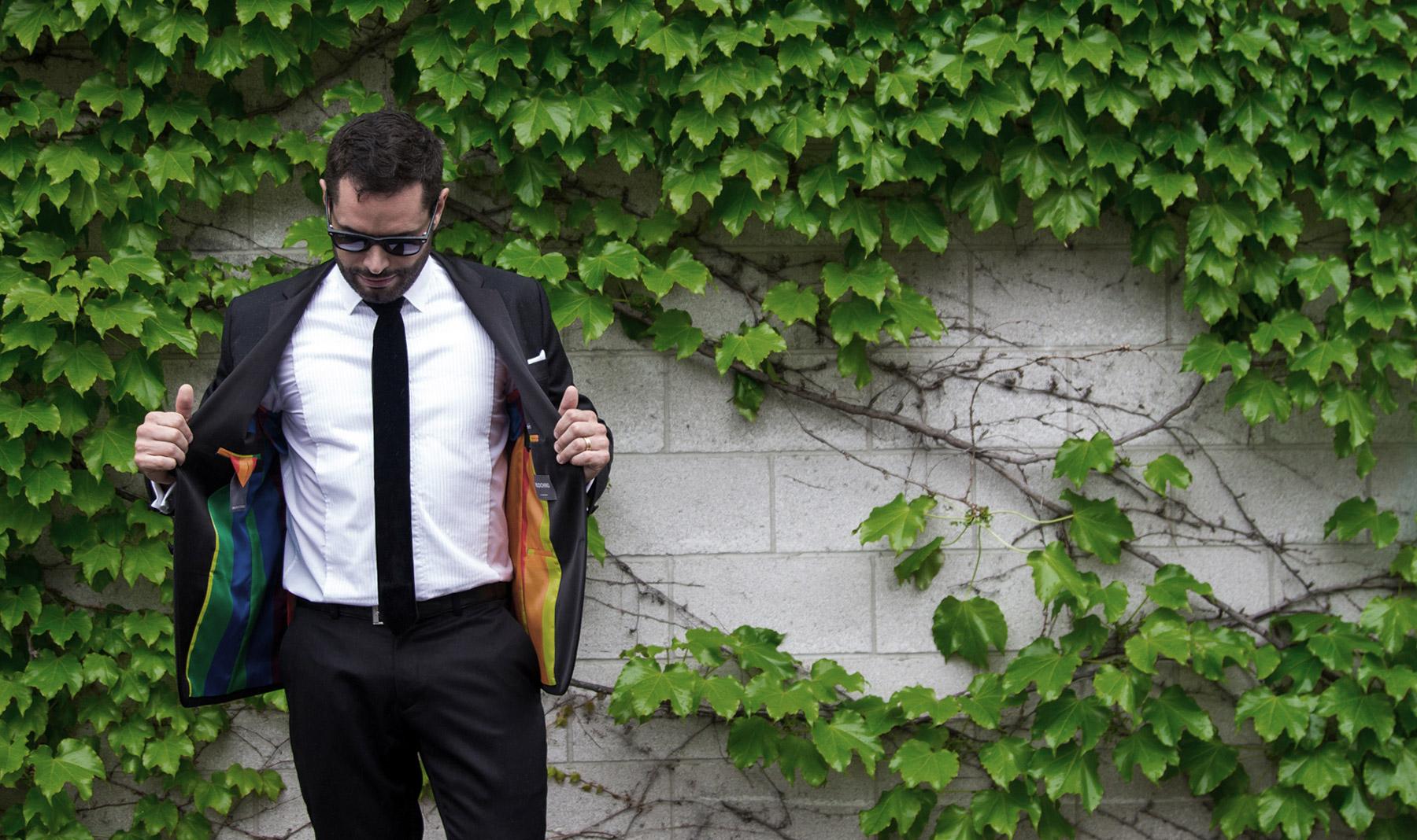 Mathieu Chantelois - pride suit lining