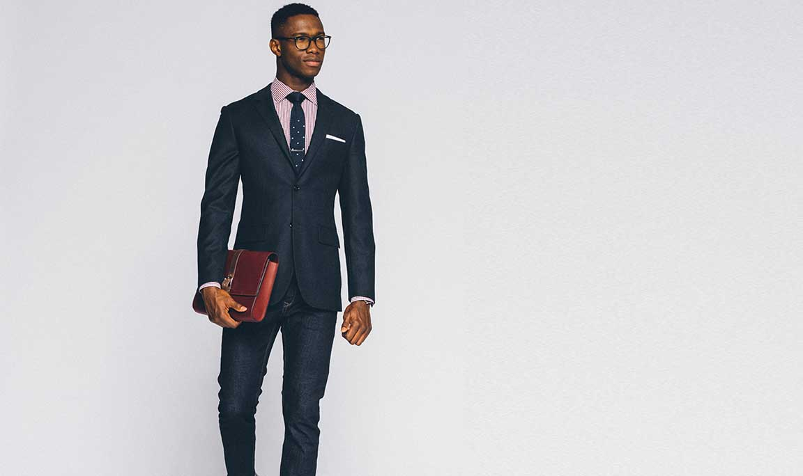Business Casual: keep it simple with jeans and accessories