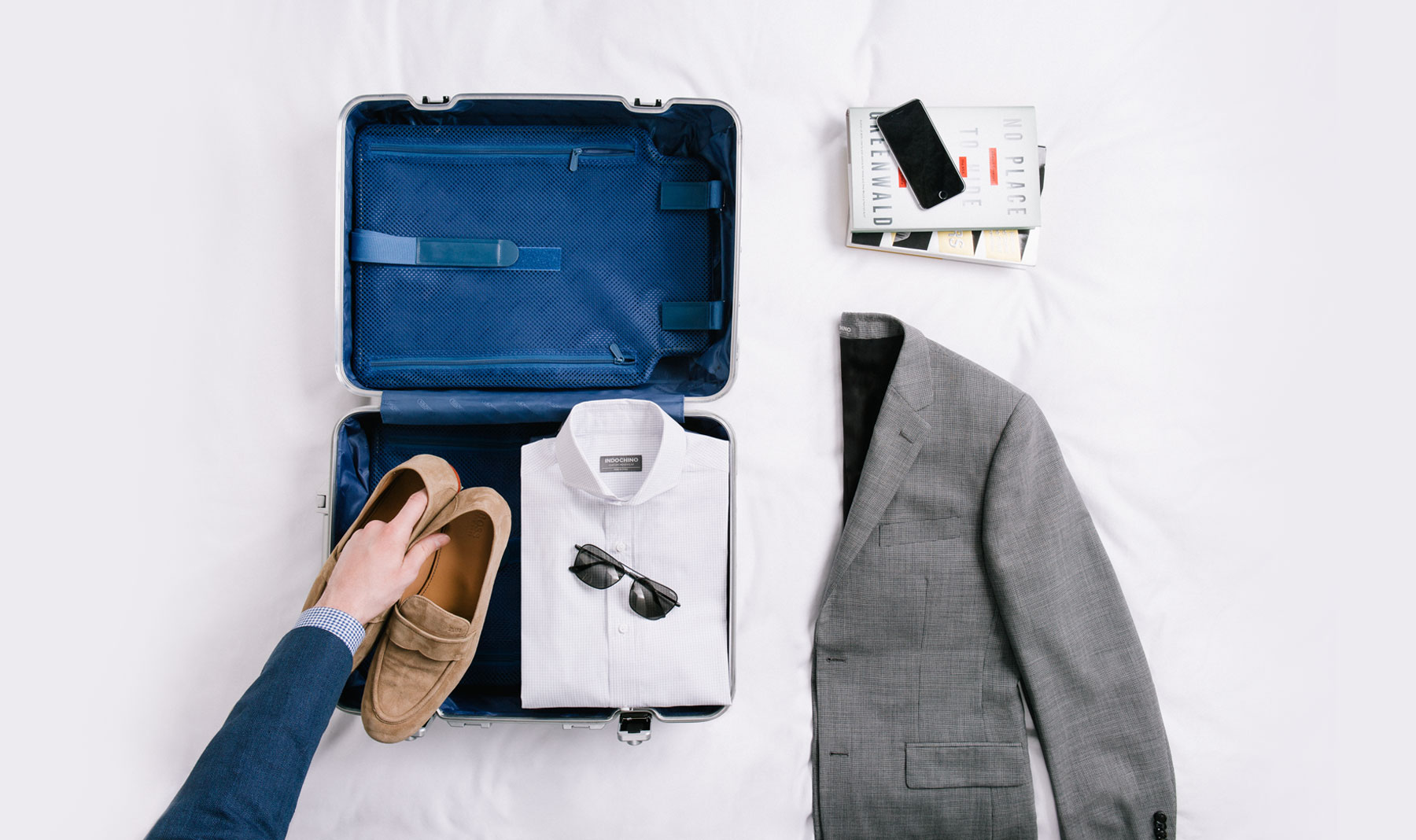 Pack right and keep your suit looking fresh from takeoff to touchdown.