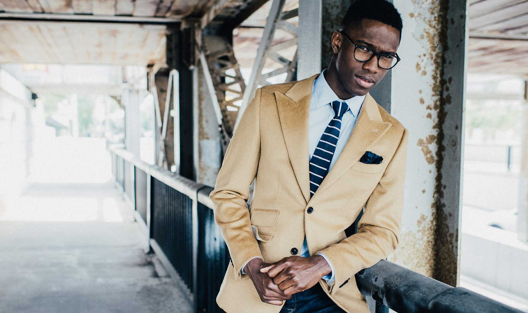 The perfect camel blazer looks great with denim.