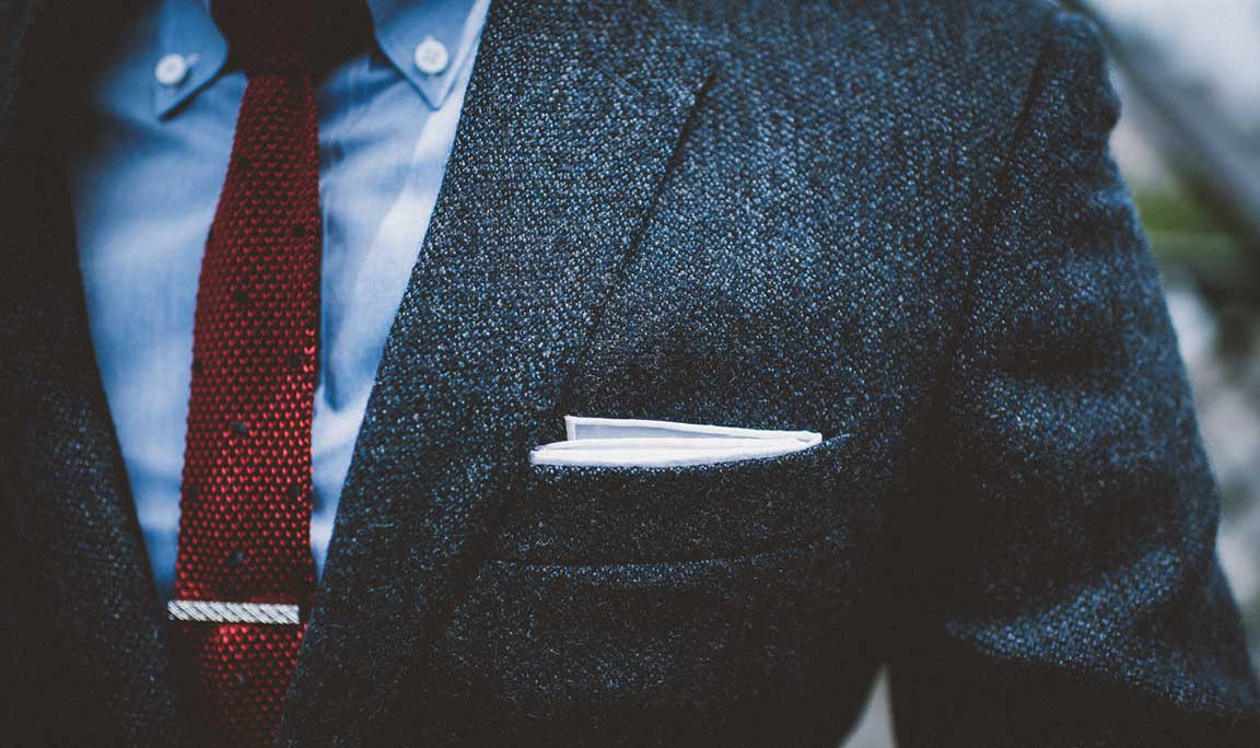 What material do you want your blazer cut from? Wool twill? Excellent choice.