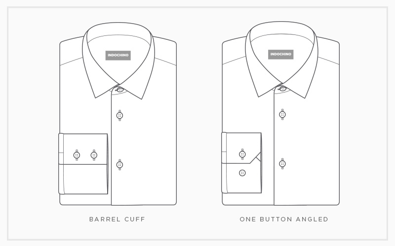 Your Guide to Dress Shirt Cuffs: Barrel & One-Button Angle
