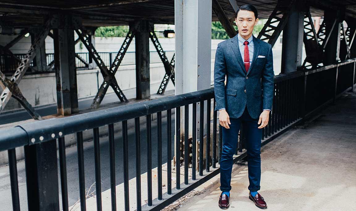 Mixing & Matching Fabrics: Wool blazer with Denim