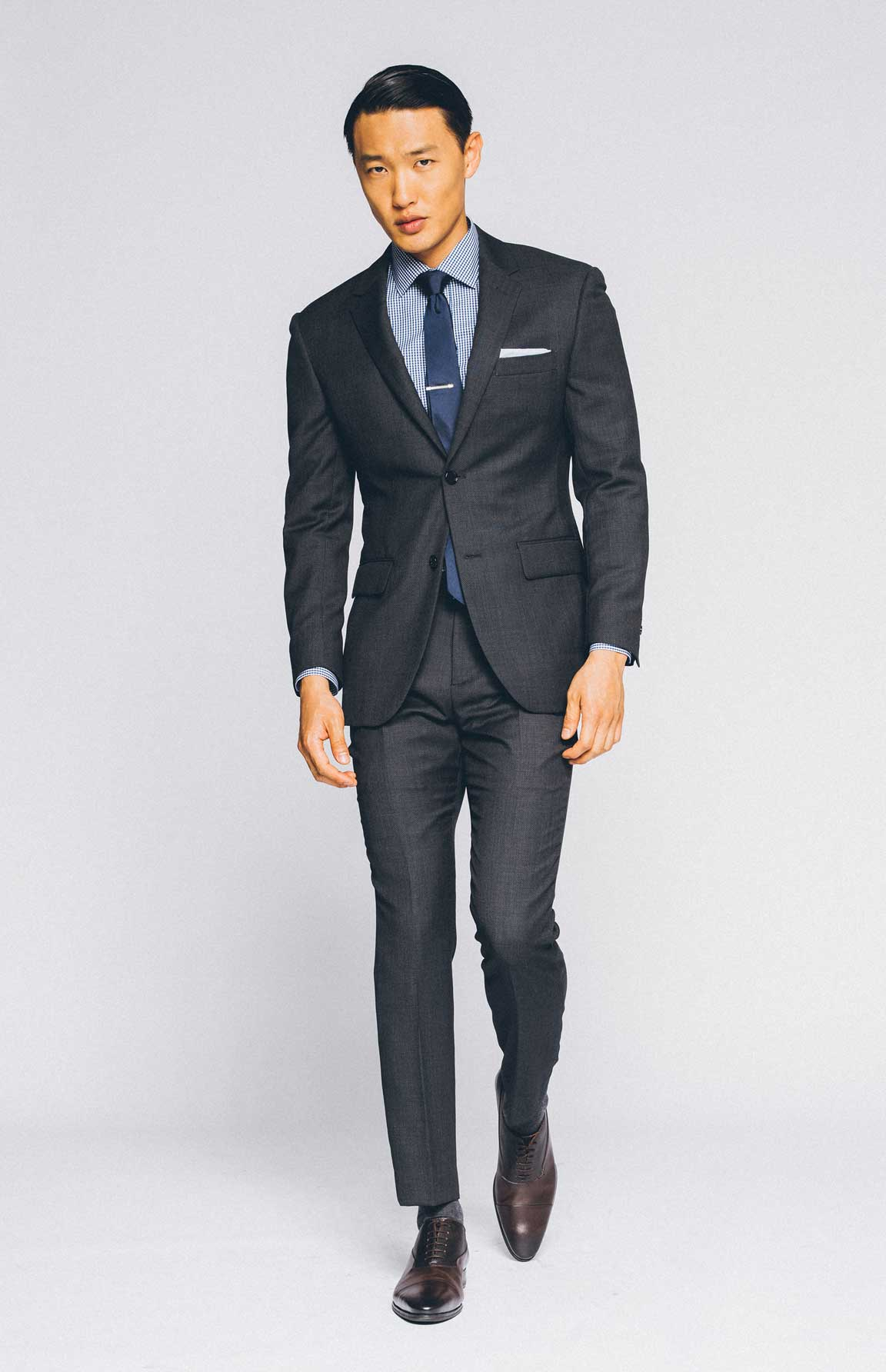 Dress to impress in our Premium Charcoal Suit.