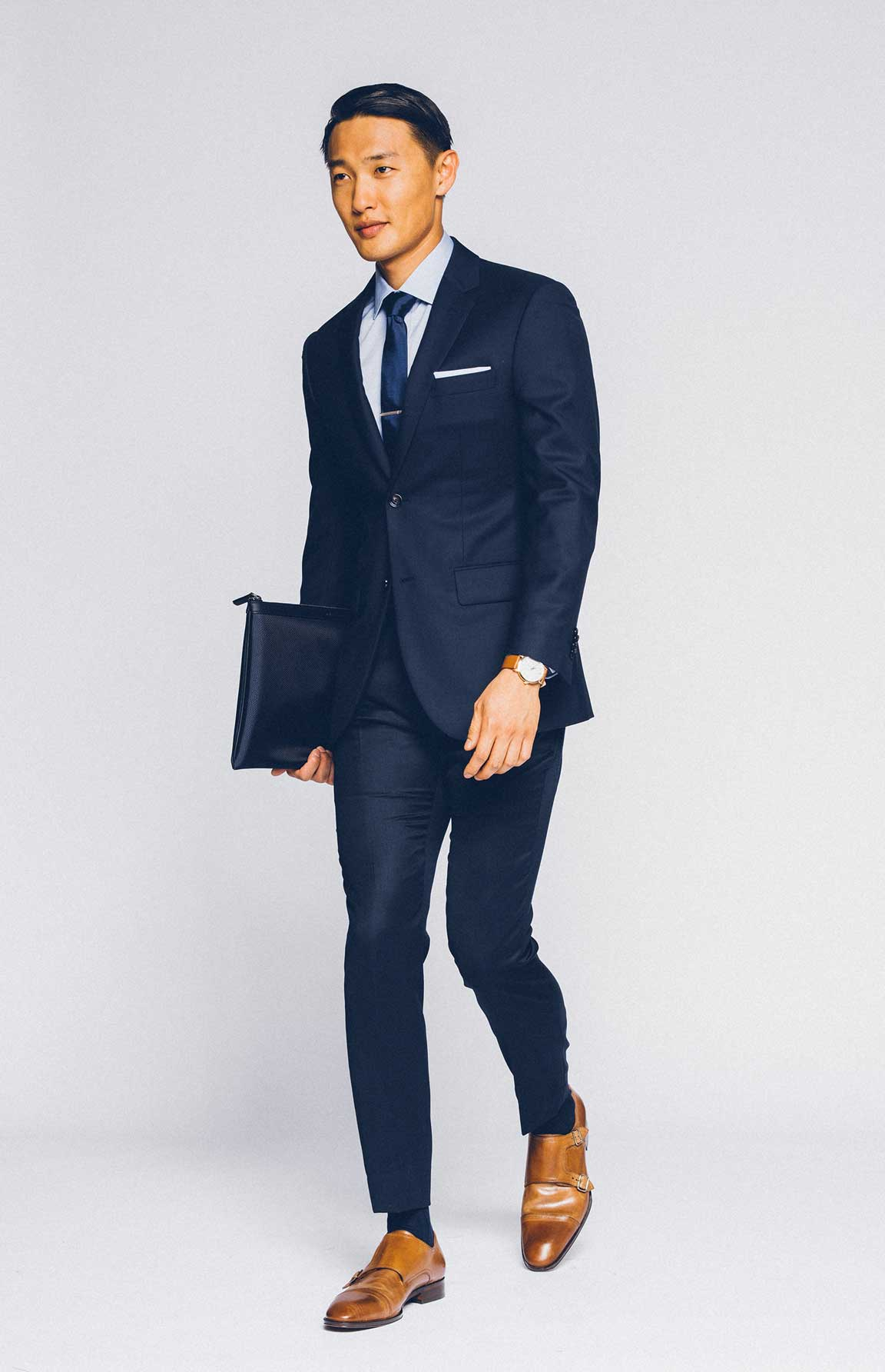 what to wear to a job interview indochino blog look like a classic man in our premium navy suit
