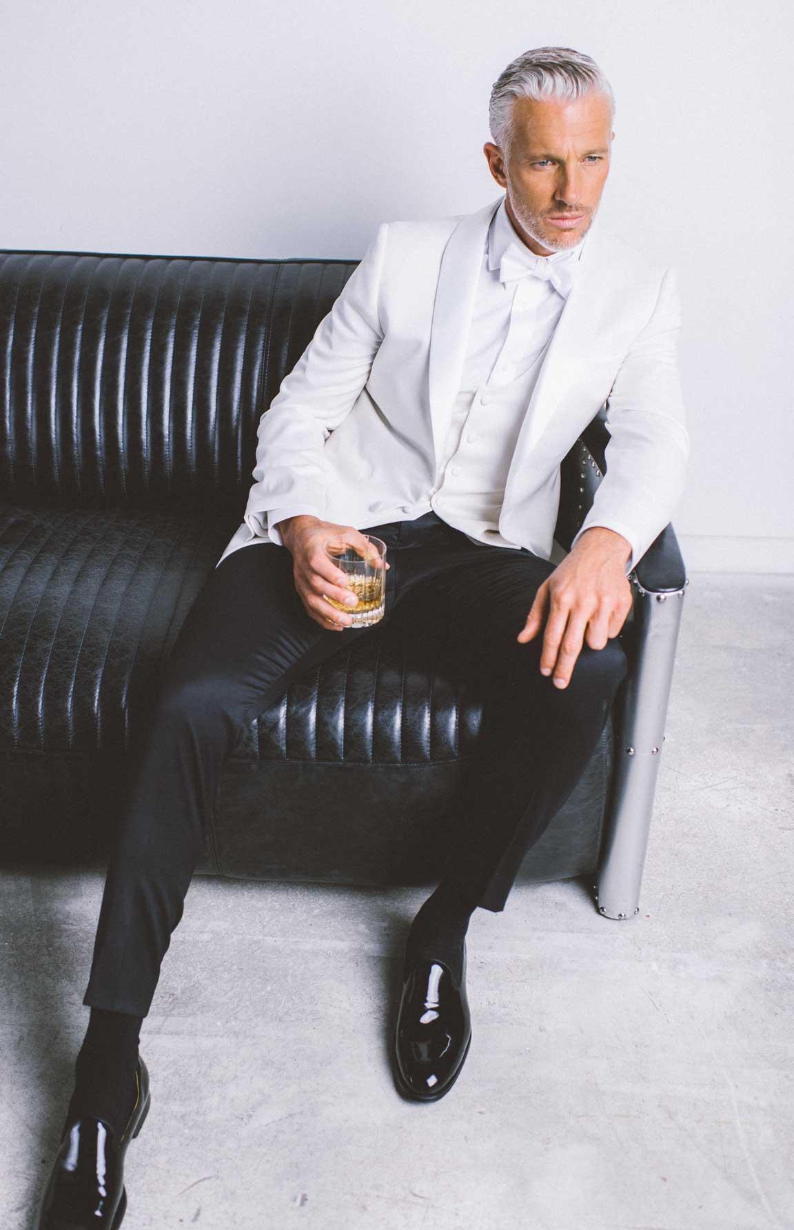 The white dinner jacket, so Bond right now