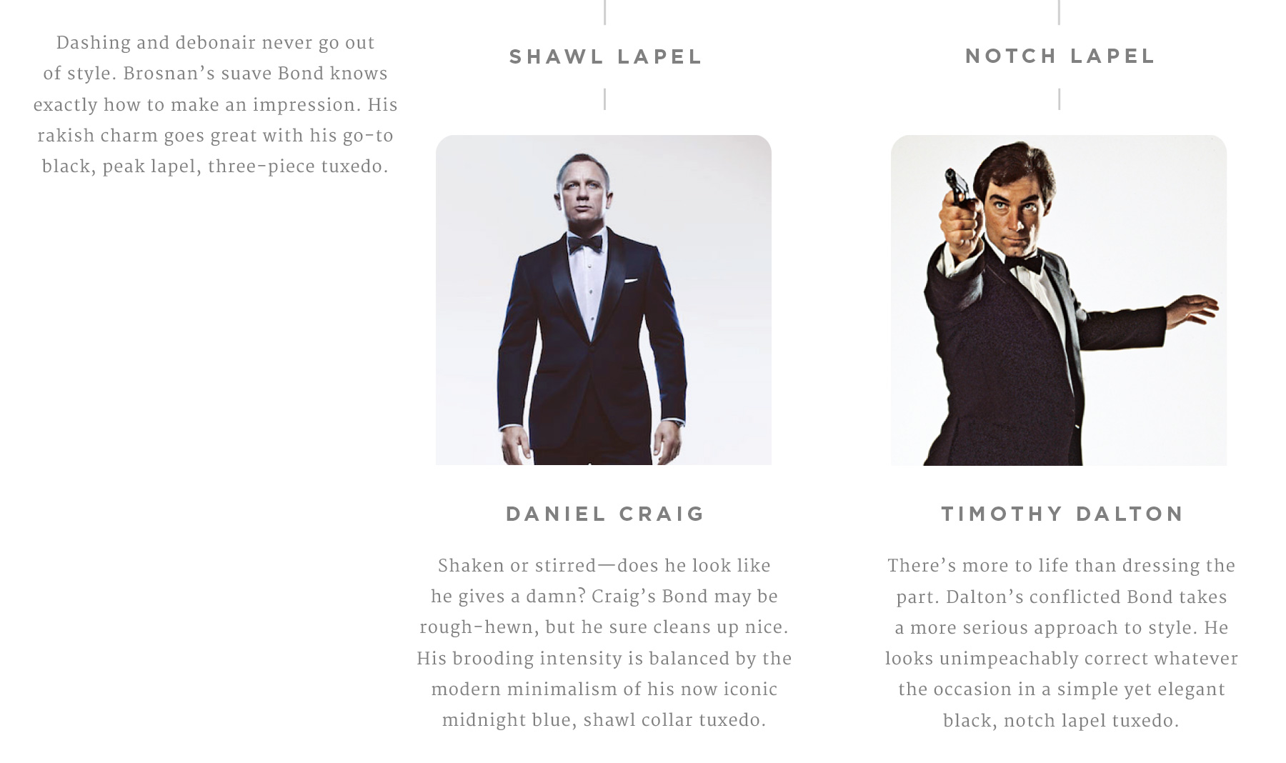 Which Bond Are You? What your attire says about you (3)