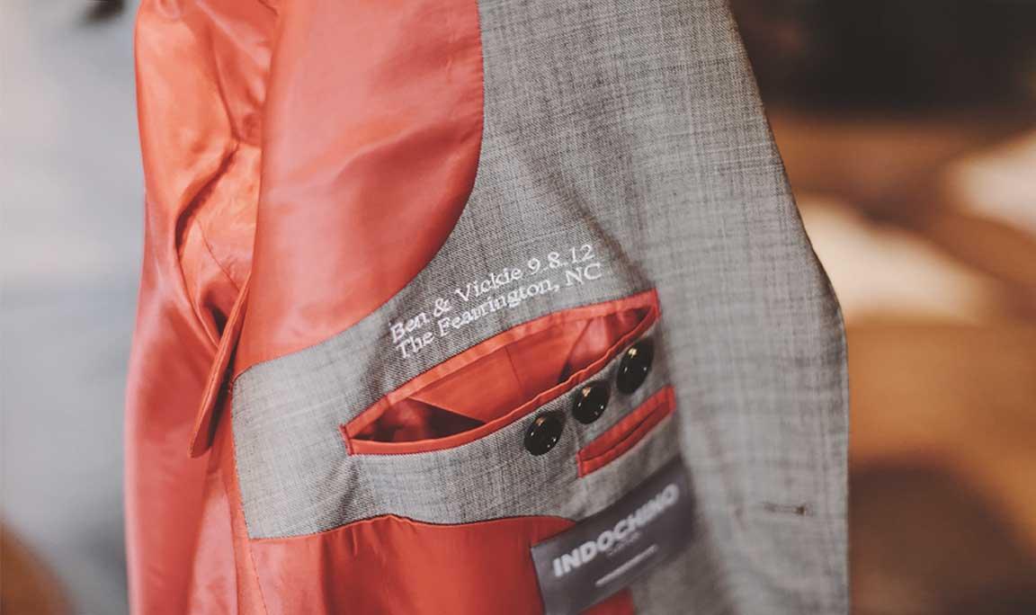 Wedding Custom Jacket Lining