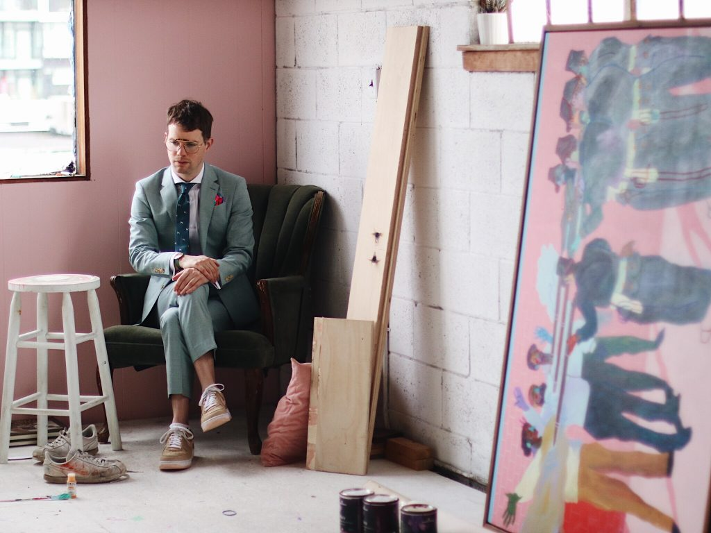 Vancouver artist Andy Dixon in Indochino
