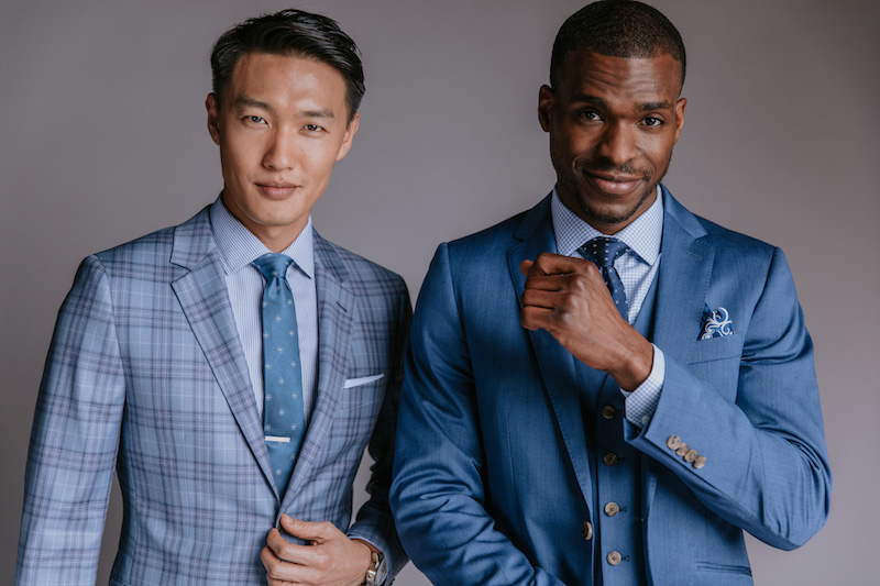 INDOCHINO Mid-tone Blues suits